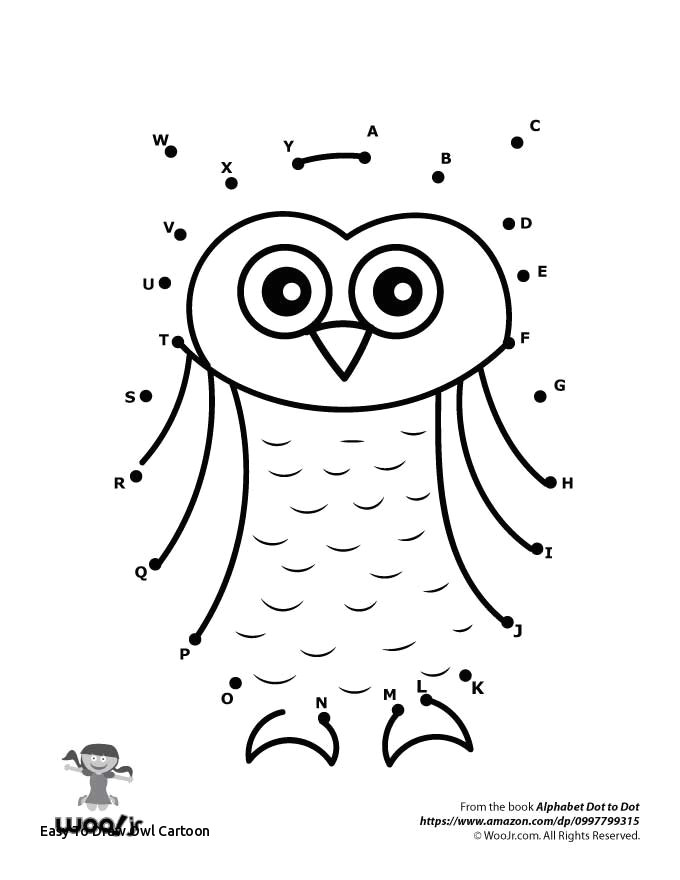 easy to draw owl cartoon owl dot to dot of easy to draw owl cartoon set