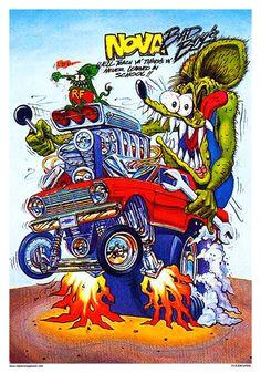 rat fink old school nova poster cartoon ratcartoon drawingsrat