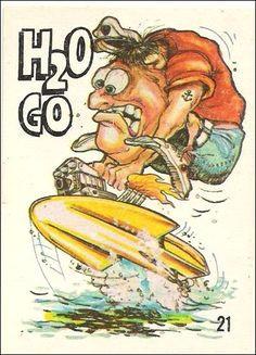 weired rods odd rods 21 a jan 1969 trading card by donruss cartoon rat