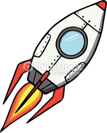 space rocket cartoon vector illustration