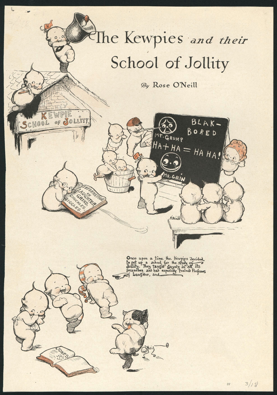 kewpie illustrated cartoon by rose o neill from good housekeeping the kewpies and their school of jollity kewpies