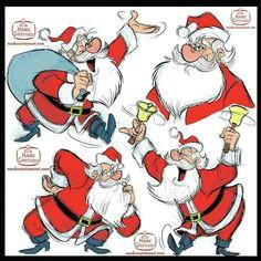 mark christiansen santa claus christmas xmas model sheet reference character design cartoon characterdesign holiday holidays kriskringle