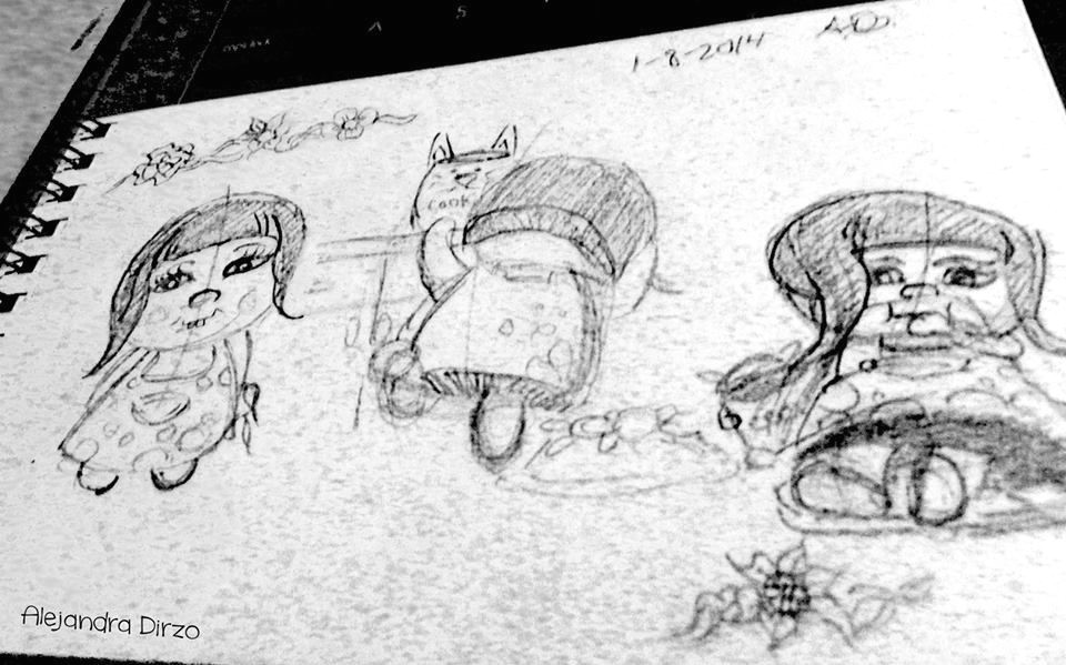 mini comic strip sketch by alejandra dirzo