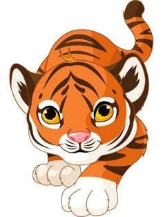 prowling tiger cartoon