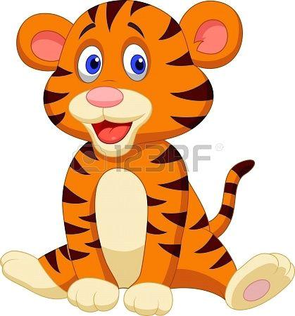 Drawing A Cartoon Tiger Cute Tiger Cartoon Cartoon Images to Paint Cute Tigers Cartoon