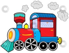 cartoon train engine to use this stock image in your creative project please select
