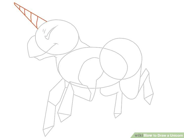 Drawing A Cartoon Unicorn Head 3 Ways to Draw A Unicorn Wikihow