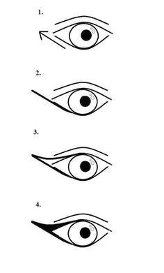 for a more dramatic cat eye draw a triangle from the outer corner and connect it to the lower lash line