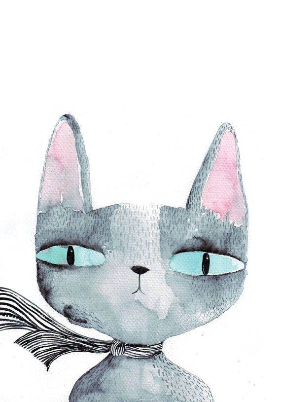 great idea for kids or adults paint something fun cat watercolor by luka va