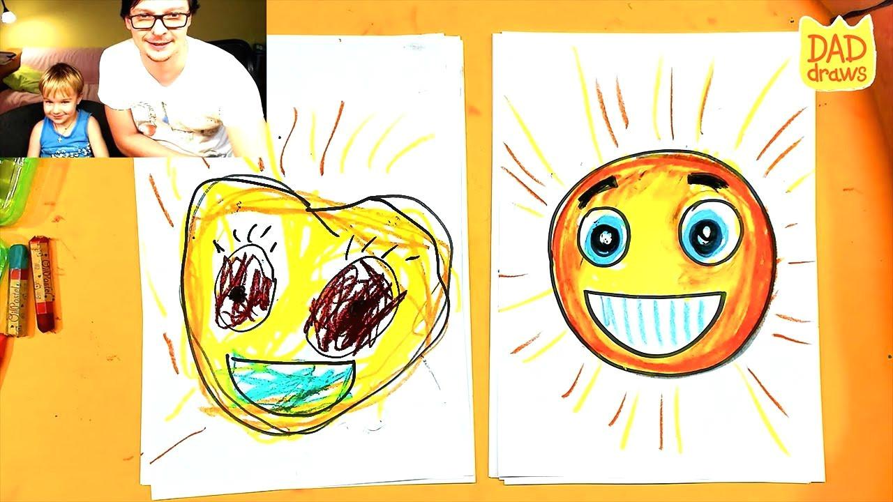 how to draw emoji sun smile