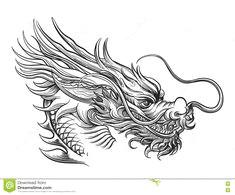drawn chinese dragon 805 dragon tattoo sketch dragon head tattoo dragon tattoo designs