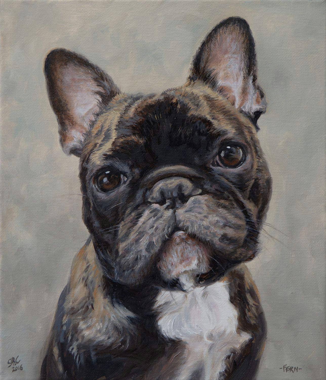 dog portrait painting of fern 10x12ins dogs cute pet portrait frenchbulldog art pet painting