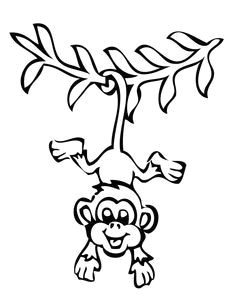 image result for easy to draw swinging monkey coloring book pages coloring pages for kids