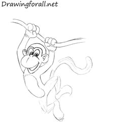 how to draw a monkey easy monkey drawing easy drawing for kids painting for