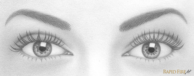 once you re happy with the shape and placement of each lash use a sharp 4b pencil to darken them