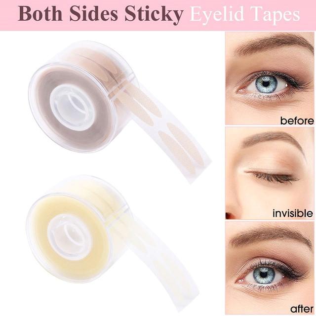600pcs s l makeup clear beige eyelid stripe big eyes decoration eyelid sticker double fold self adhesive eyelid tape stickers