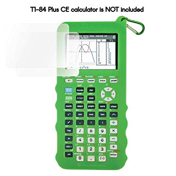 silicone case for ti 84 plus ce calculator green cover for texas instruments