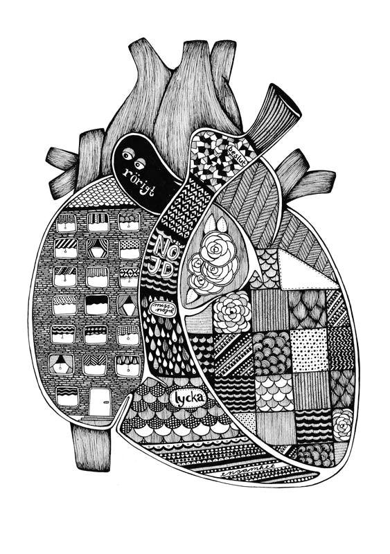 anatomical heart illustration by tovelisa