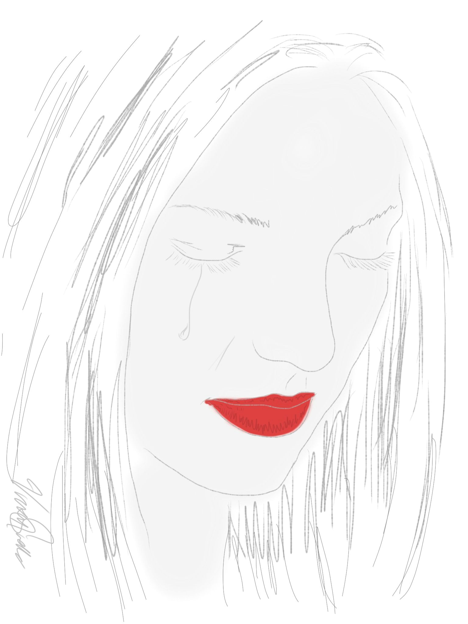 Drawing A Heart On Your Face Real Tears are Not Those that Fall From the Eyes and Cover the Face