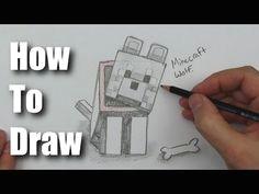 how to draw minecraft wolf
