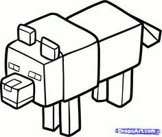 Drawing A Minecraft Wolf 12 Best Minecraft Wolf Images Minecraft Wolf Bad Wolf Minecraft