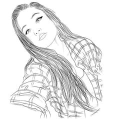 grafika girl outline and draw tumblr outline outline art outline drawings