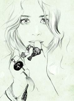 sketch of mk olsen i love it