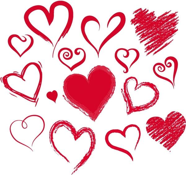hearts free vector 4 32mb