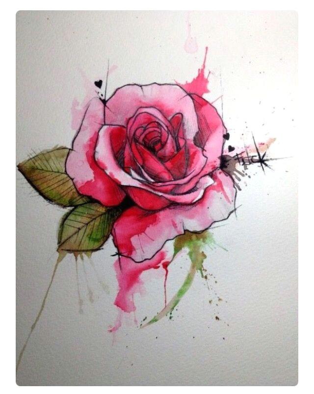 tattoo designs water colour rose tattoo tatoo rose tiny rose tattoos coloured