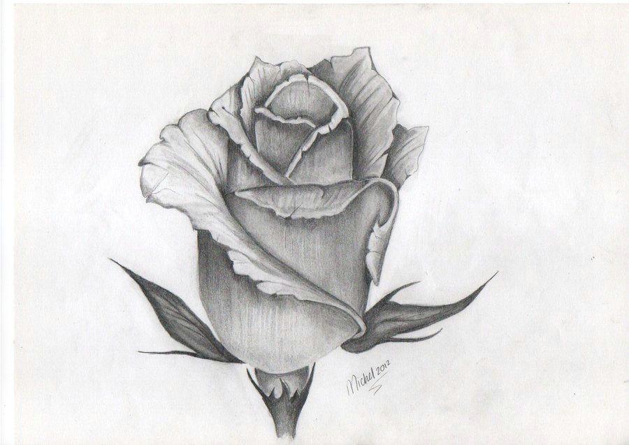 tattoo design of rose bud