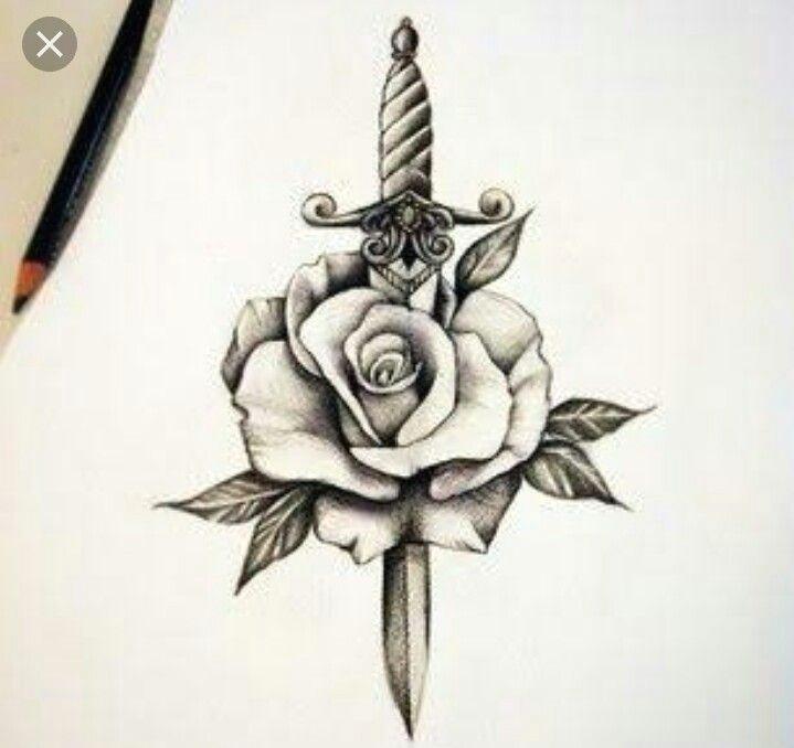 tattoosformenunique rose and dagger tattoo rose tattoo man grey tattoo knife and