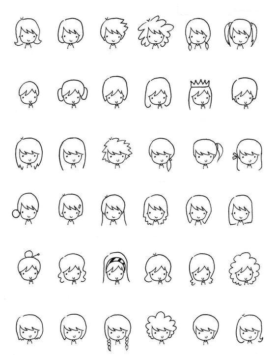 doodles of hair fun drawings cartoon drawings of people cartoon faces simple cartoon
