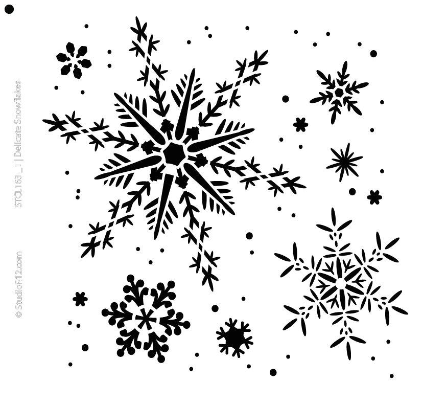 delicate snowflakes stencil 6 5 x 6