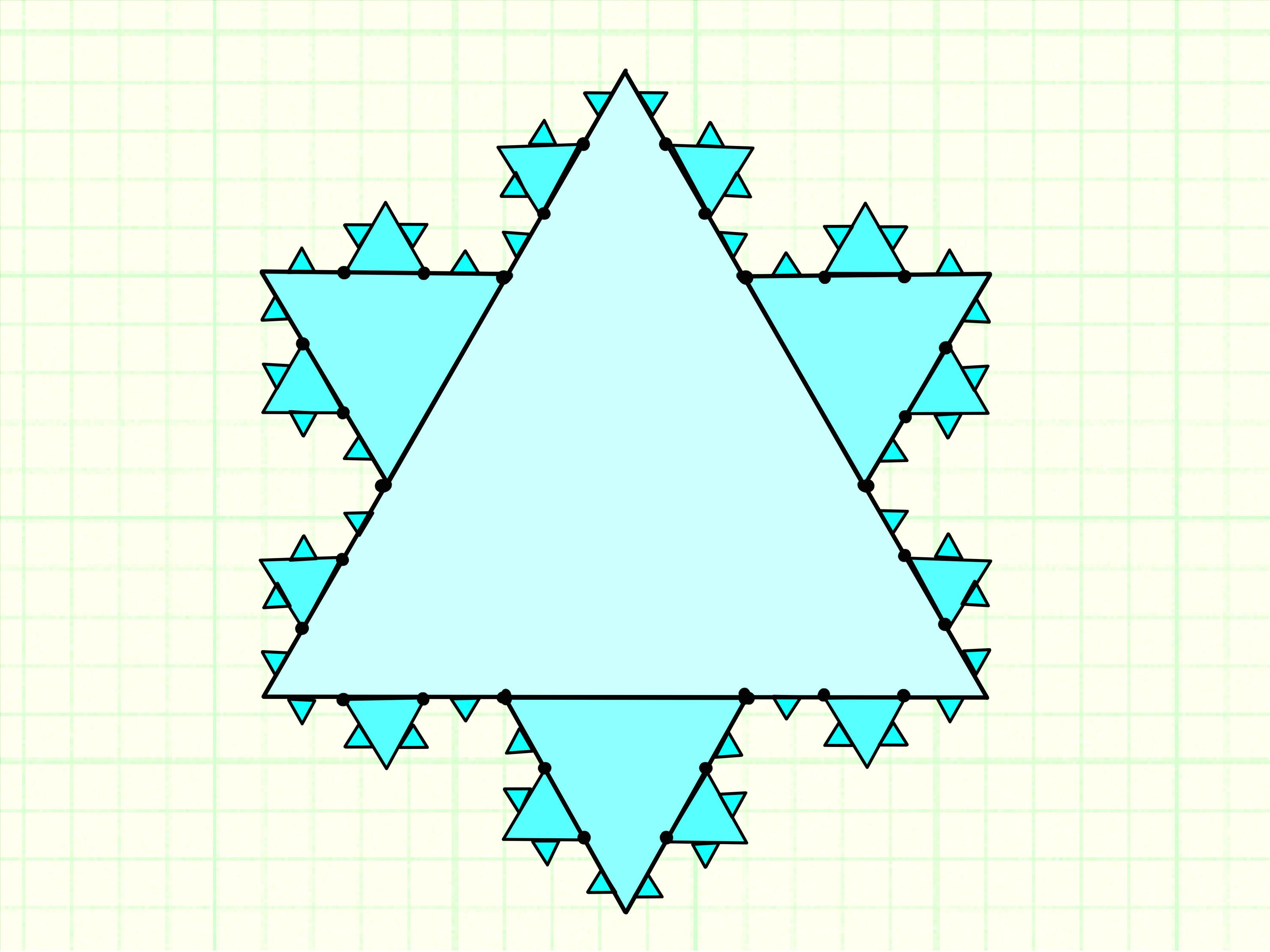 draw the koch snowflake step 7 jpg
