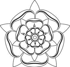 line drawing roses tudor rose line drawing
