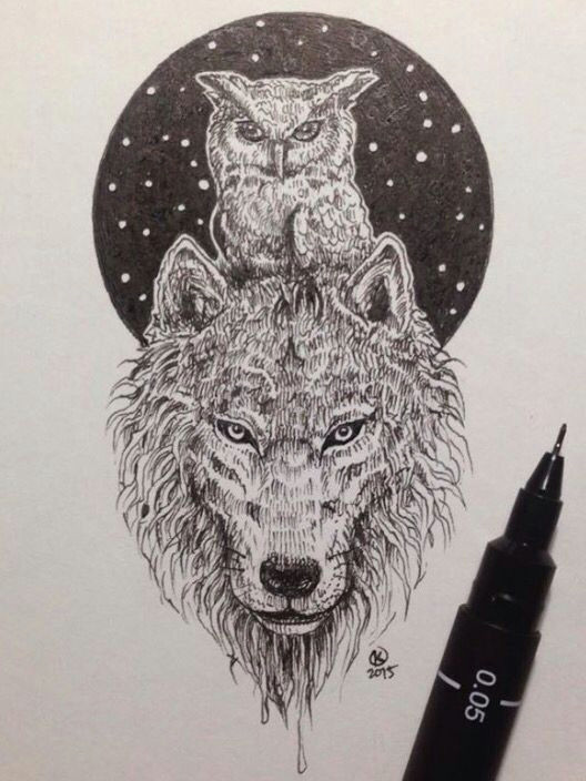 amazing owl and wolf pic by kerby rosanes may have to get this as my next tattoo