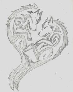 wolf sketch pencil art artwork art heart drawing doodle