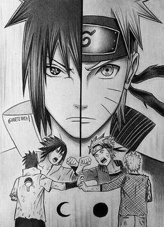 naruto uzumaki and sasuke uchiha by arteyata