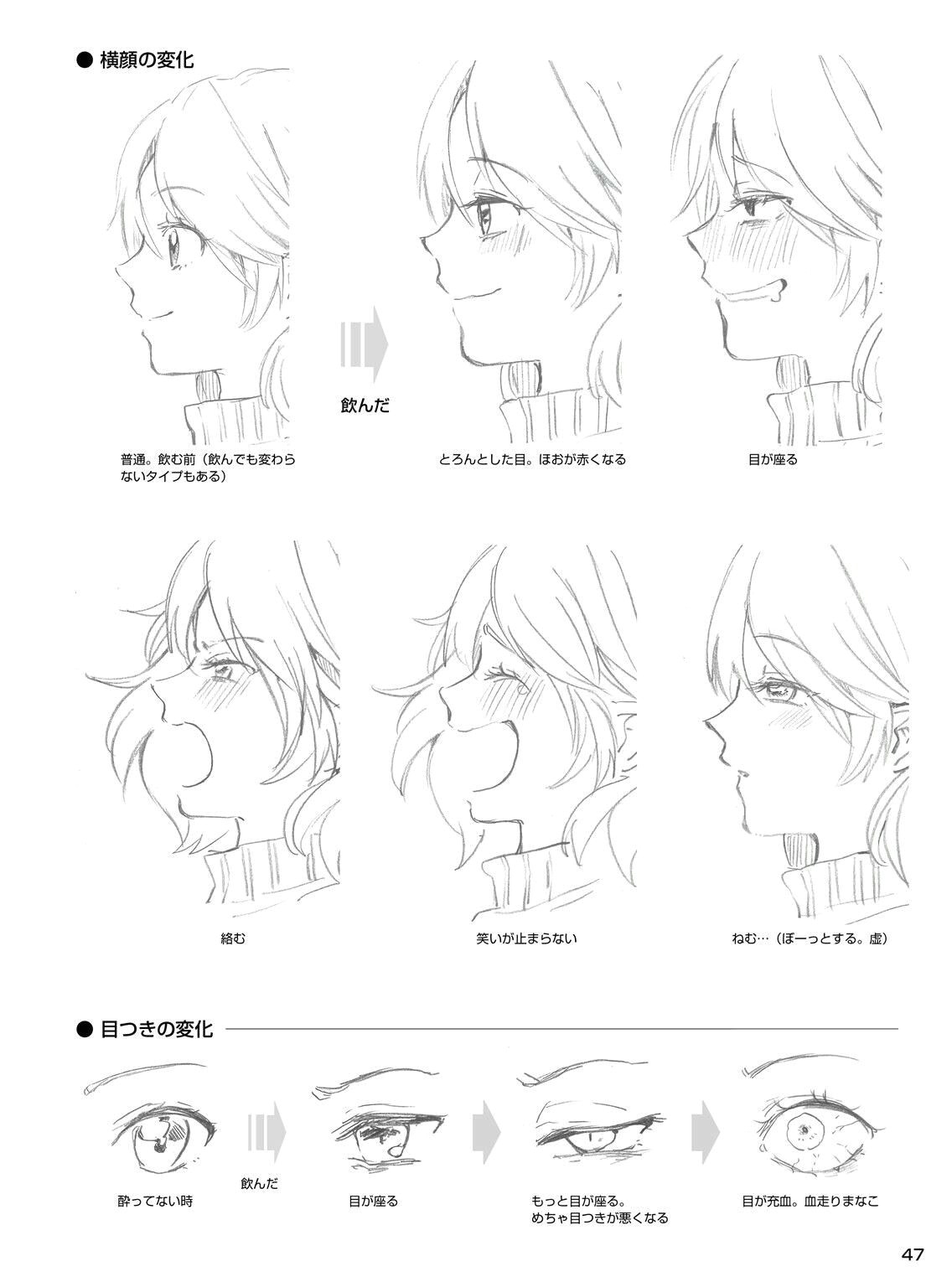side face eyes expression drunk smiling realistic eye drawing manga drawing drawing tips