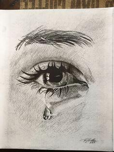Drawing An Eye In Pen Crying Eye Sketch Drawing Pinterest Drawings Eye Sketch and