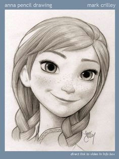 anna pencil drawing by mark crilley one of my favorite artists joy art