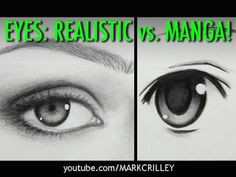styles compared realistic eyes manga eyes by mark crilley
