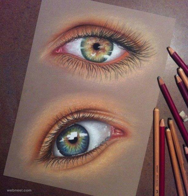 60 beautiful and realistic pencil drawings of eyes read full article