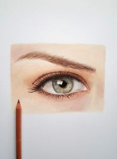 how to draw a realistic eye with colored pencils caran d ache luminance and