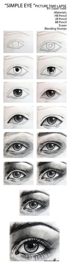 dazeltodd hey guys here is a time lapse of an eye i drew