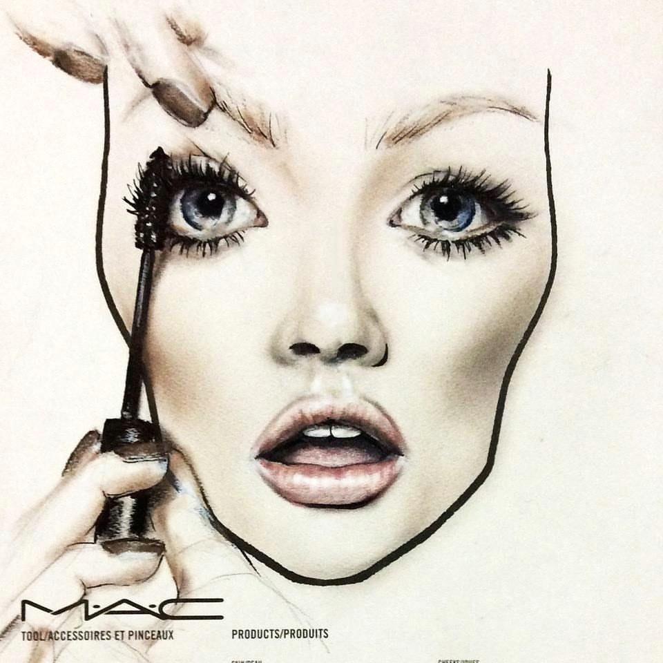 mac face chart by amalia bot hand makeup makeup charts makeup illustration makeup