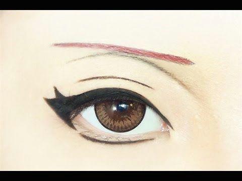 tutorial anime eye makeup 175 sasori youtube