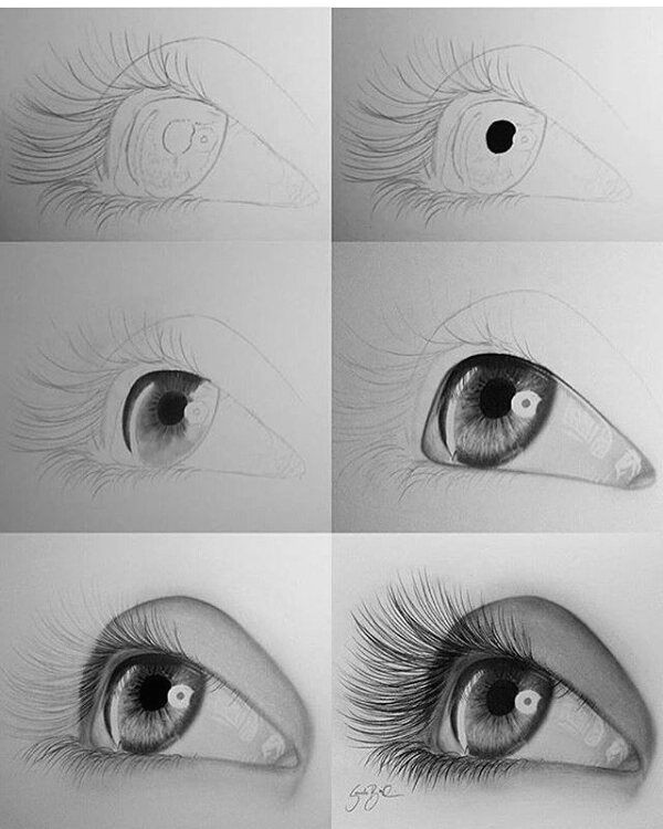 how to draw a realistic eye b