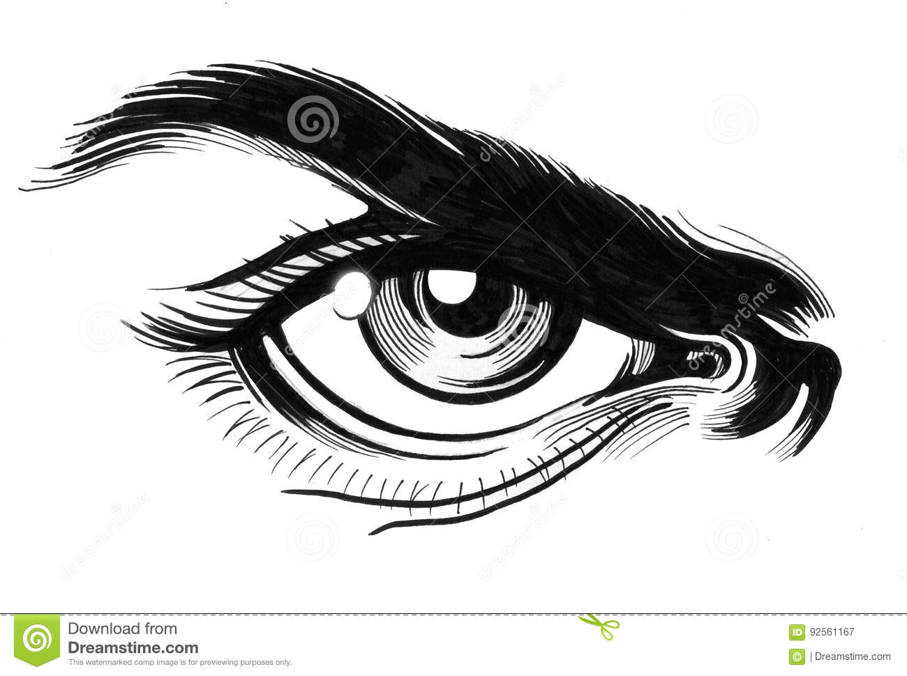 Drawing Angry Eyes Angry Eye Stock Illustration Illustration Of Sketch 92561167