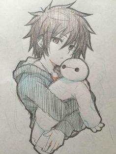 big hero 6 anime drawings sketches anime sketch manga